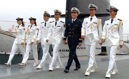 共和国海军07式军服图片