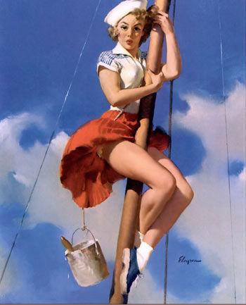 美国征兵海报 最爱笑容可掬金发女郎