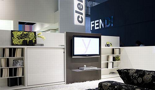 电视柜 书柜 床 意大利惊艳三位一体家具