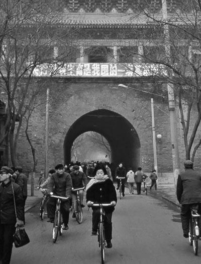 老照片 80年代中国各地街头风情