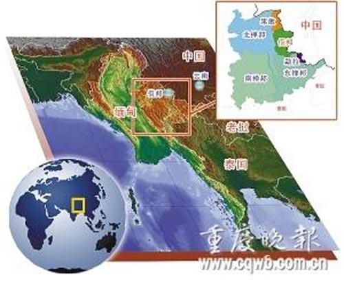 缅甸边境地图