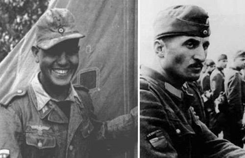二战纳粹德军里的异族战士们