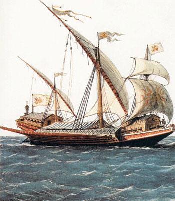 """西洋帆船发展史:""""加莱""""船的时代"""