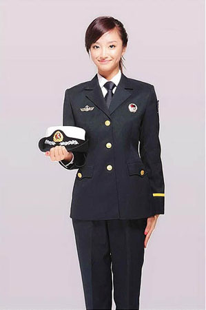 养眼的女海军学员新制服图片