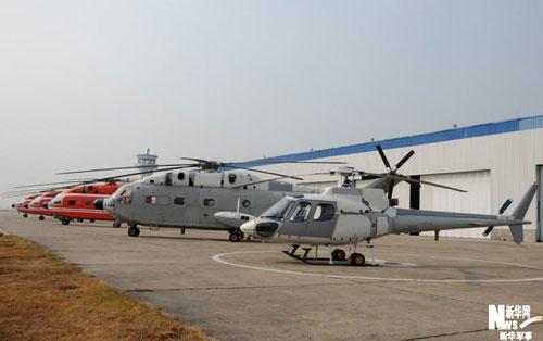 景德镇昌河飞机公司停机场上的直-8机群