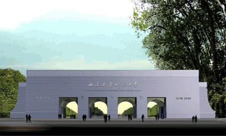 西安建筑科技大学西大门据说花费300万