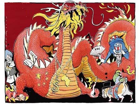 从两幅漫画看西方中国视角的历史性v漫画微的盘裕漫画东野图片