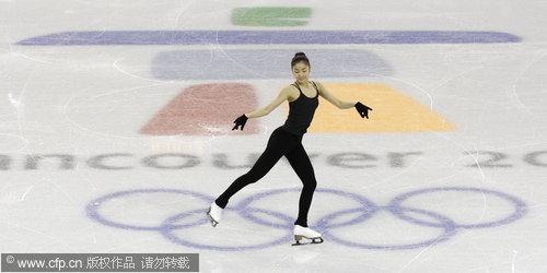 2010冬奥会花样滑冰女子单人滑:金妍儿备战