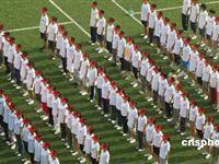 北京十万学生紧锣密鼓开展国庆游行庆典训练