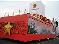 北京65辆国庆彩车组装集结[图集]