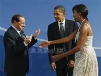 奥巴马夫妇迎接G20各国领导人夫妇[图集]
