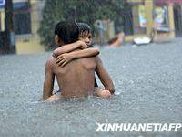 菲律宾北部遭热带风暴袭击暴雨成灾