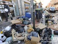 """受清洁工罢工影响 法国图卢兹成""""垃圾城""""[图集]"""
