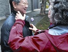 11月21日张玉凤、刘思齐联袂现身武汉