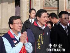 马英九赴新竹县 义民庙祈福求胜选