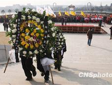 江苏淮安举行活动纪念周恩来逝世34周年