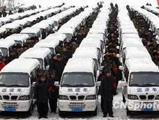 乌鲁木齐555辆巡逻便民车开进社区[图集]