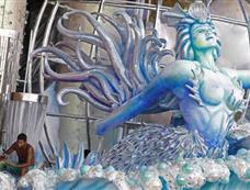 里约热内卢狂欢节即将开幕 喜庆气氛渐浓[图集]