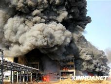 浙江绍兴一化工厂发生火灾爆炸[图集]