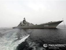 """最具俄罗斯气质的""""彼得大帝""""号核动力巡洋舰远航"""