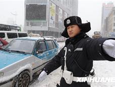 黑龙江遭暴雪袭击[图集]