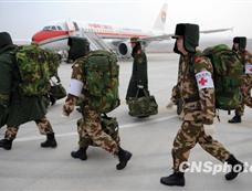 广东边防总队医疗救援队清晨抵达西宁机场