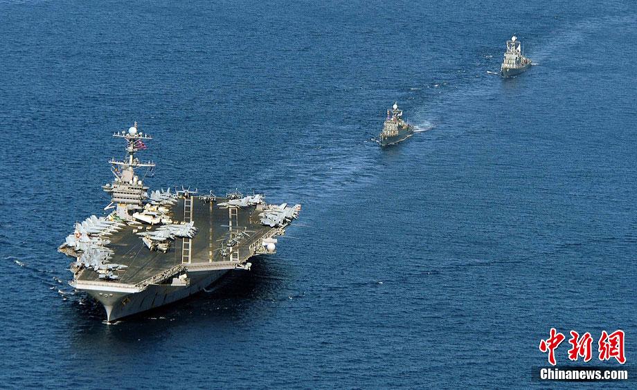 美国海军航母编队(资料图)