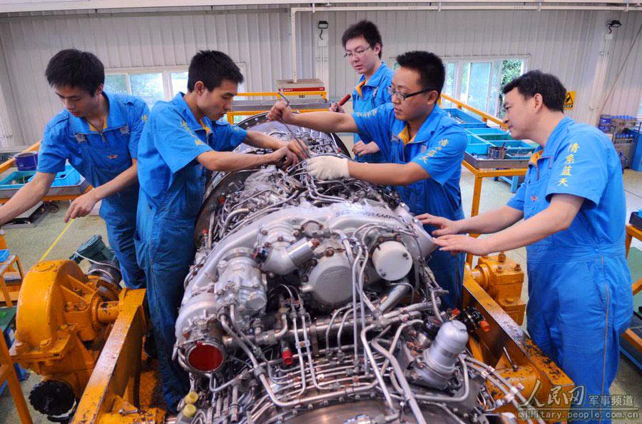 中国空军发动机大修厂曝光 厂房整洁设备先进!