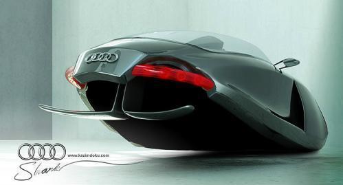 设计师推出新型概念反重力机车 形似鲨鱼
