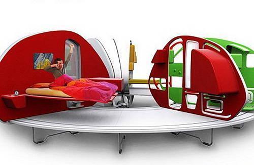 折叠房车-MINI拖挂 厨房卧室一应俱全(3)