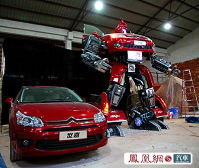 """高达4.5米世嘉版""""汽车人""""将现上海车展"""