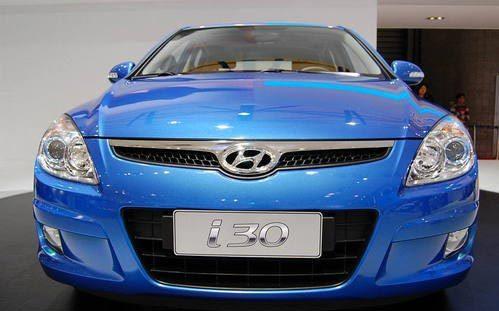 北京现代3款新车亮相车展 两厢车i30亚洲首发