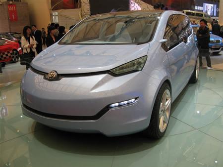 2009上海车展:华晨中华EV电力概念车亮相