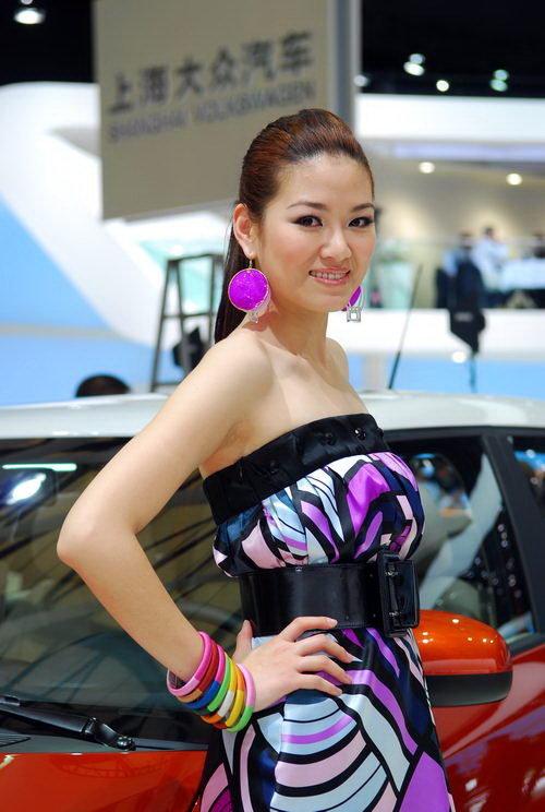上海车展 斯柯达明锐艳丽车模