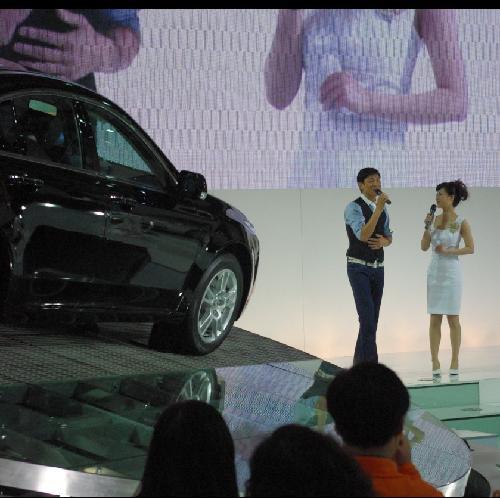 """上海车展Acura展台惊现""""华仔"""""""