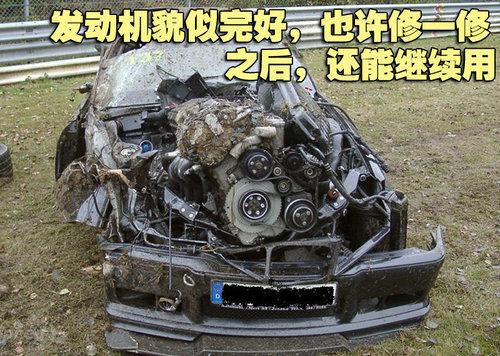 宝马M3恐怖车祸 纽博格林让宝马变废铁
