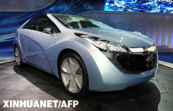 新能源汽车亮相底特律 北美车展劲吹环保风