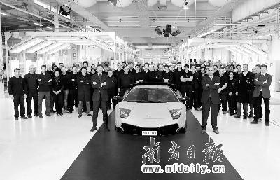 第4000辆兰博基尼Murciélago销往中国