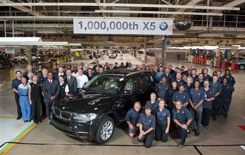 第一百万辆宝马X5下线 买主为中国客户