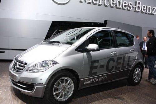 奔驰A级E-CELL电动车 巴黎车展全球首发