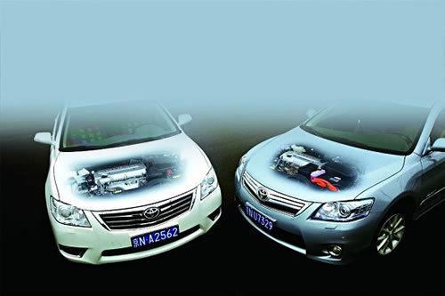 凯美瑞混合动力与汽油车型对比试驾 用芯体会