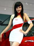 上海车展起亚车模