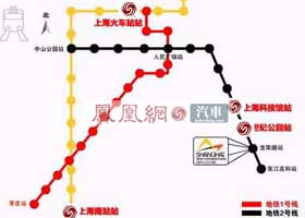 2009上海车展展馆地铁换乘