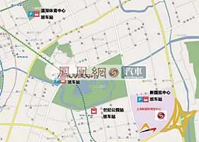 2009上海车展展馆周边班车站