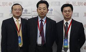 从左至右分别是:CMS中国总裁张豫、全国乘联会秘书长饶达、J.D.Power亚太中国区总经理梅松林