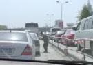 车展现场交通拥堵