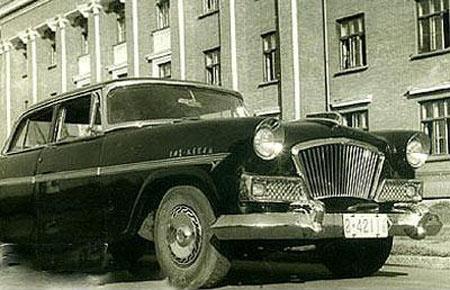 当时的第一辆红旗轿车(资料图)-国庆60年回顾车市发展 中国特色公高清图片