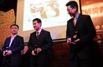 创意营销大奖颁奖:从左到右依次是东风柳汽市场部史玮玮、宝马中国南区MINI经理黄维林、上海大众品牌总监刘景康。