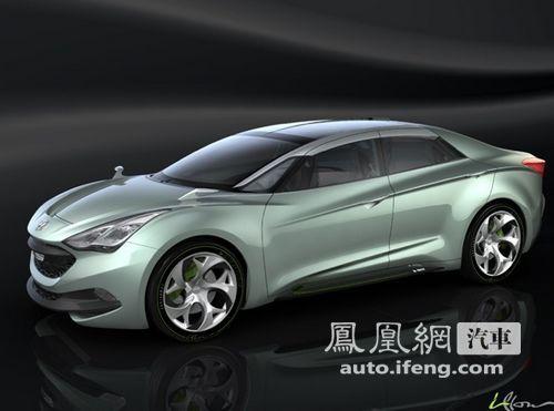 现代柴油混合动力i-Flow概念车日内瓦车展亮相