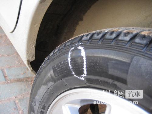 \[315消费者呼声\]质量不过关 同悦轮胎外侧鼓起